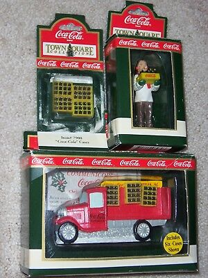 Coca-Cola Town Square Accessories lot of 3, DELIVERY TRUCK, GIL THE GROCER, COKE