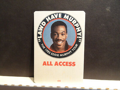 1985 Eddie Murphy Lawd Have Murphy Comedy Tour All Access Pass NEW Holder