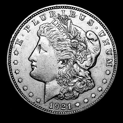 1921 D ~**ABOUT UNCIRCULATED AU**~ Silver Morgan Dollar Rare US Old Coin! #B39