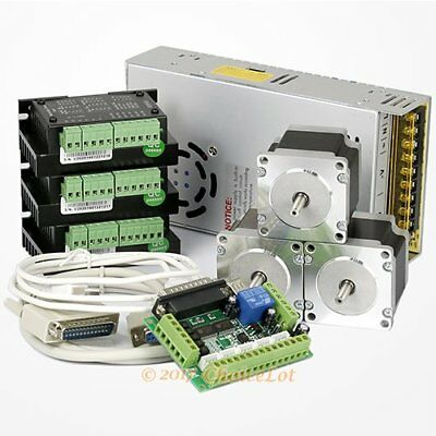 CNC Kit 3Axis Nema23 Stepper Motor M335 Stepper Driver For Mill/Router/Engraving
