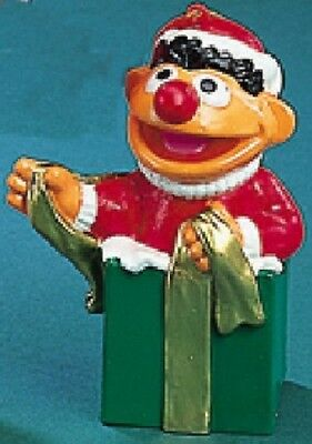 Ernie in Present Sesame Street Christmas Ornament