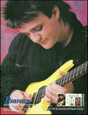 Frank Gambale 1988 Ibanez 540 Saber electric guitar ad 8 x 11 advertisement