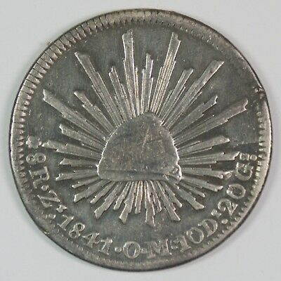 1841-Zs Mexico 8 Reales Silver Coin