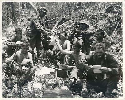 WWII Mail Delivered to US Marine Machine Gunners on Front Lines at Peleliu Photo