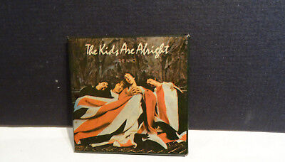 Vintage Record Album Who The Kids Are Alright Metal Pin Badge Button USED