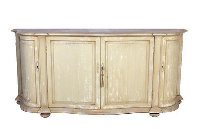 Recycled Pine Wood French Country 4 Doors Sideboard,85'' x 38''H.