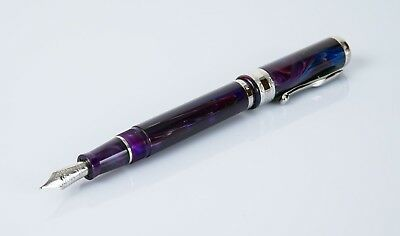 Visconti Cosmos Purple Nebulus Fountain Pen 77861 LE# 35