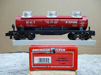 American Flyer #6-48497 Tca 1996 A/f Triple-Dome Tank Car-New In Orig. Box!