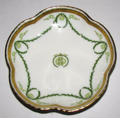 "Royal Crown Derby 5 Petal Dish / Tray in the TITANIC Pattern 4.5"" X 4.5"""
