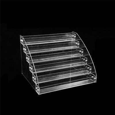 2/3/4/5/6/7 Tiers Nail Polish Acrylic Clear Makeup Display Stand Rack Organizer