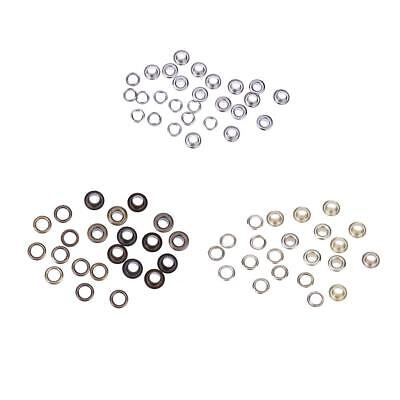 100sets Eyelet with Washer Leather Craft Repair Grommet 4mm 5mm 6mm 8mm E0Xc
