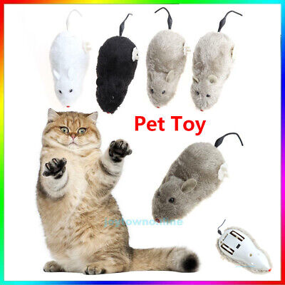 Cat Dog Pet Funny Electronic Rat Mouse w/ Spring Winding Trick Playing Toy Gift