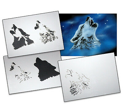 Step by Step Airbrush Stencil AS-001 M ~ Template ~ UMR-Design