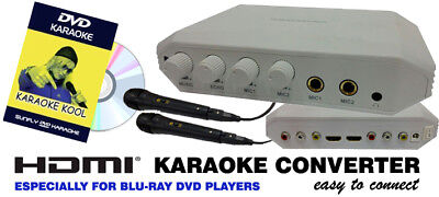 Convert Your Blu-Ray Dvd Player Into Karaoke - 2 Mics - Free Dvd - Rca Or Hdmi