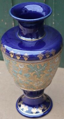 Very Large Old Royal Doulton Stoneware Ornate Looking Vase