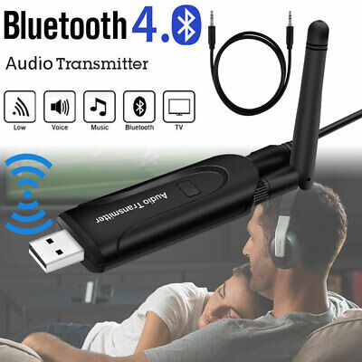 Wireless Bluetooth Transmitter A2DP 3.5mm Audio Music Adapter for TV DVD PC