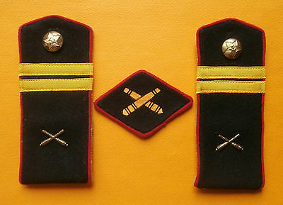 Soviet Russians epaulets of lance sergeant of the artillery of Red Army,(1943)