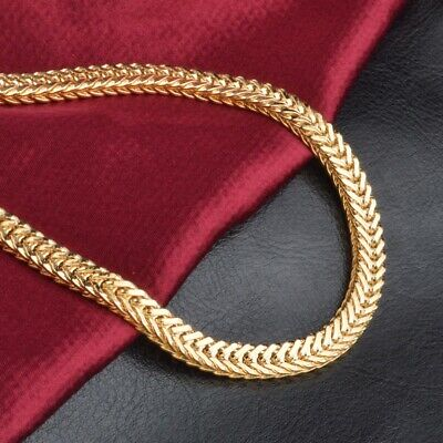 "6MM 20"" Men 18k Gold Plated Miami Cuban Curb Link Chain Necklace Hip-Hop"