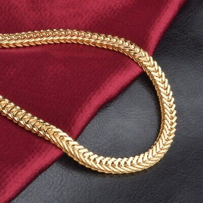 "6MM 20"" Men18k Gold Plated Miami Cuban Curb Link Chain Necklace Hip-Hop"