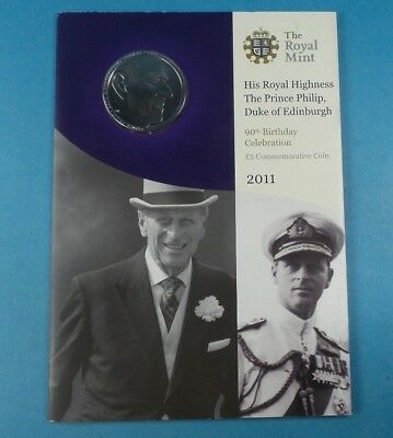 2011 United Kingdom Prince Philip 90Th Birthday  £5 Coin Collection