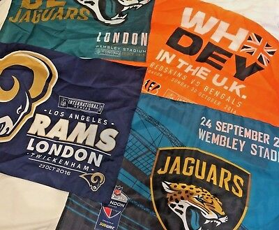 NFL International Series Jaguars, Rams, Bengals Wembley/Twickenham Fabric Flags