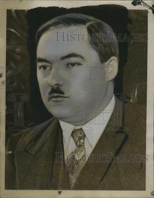 1939 Press Photo Marcel Deat, French Chamber of Deputies Member, Indicted