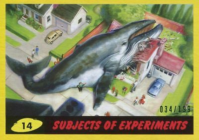 Mars Attacks The Revenge Yellow [199] Base Card #14 Subjects of Experiments