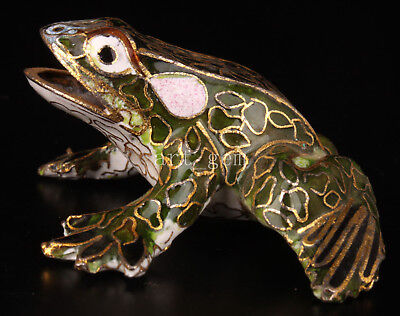 Cloisonne Old Frog Statue Enamel  Collectable Old China