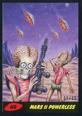 Mars Attacks The Revenge Black [55] Base Card #49 Mars II Powerless