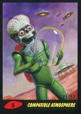 55 Base Card #4 Landing on Mars II Mars Attacks The Revenge Black