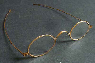 spectacles glasses en OR solid towards 1900 lorgnette gold glasses shows