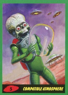 199 Base Card #37 Probing the Mind Mars Attacks The Revenge Yellow