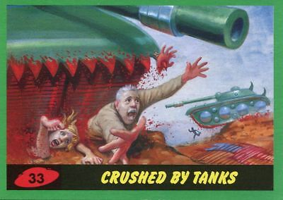 Mars Attacks The Revenge Green Base Card #33 Crushed by Tanks
