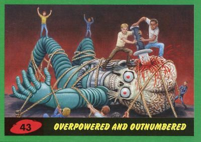 Mars Attacks The Revenge Green Base Card #43 Overpowered and Outnumbered