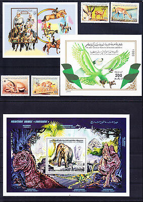 054631 Tiere Animals Libya Stamps Briefmarken ** MNH - Lot