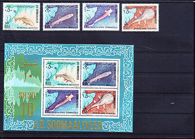 054646 Fische Fish Somalia 288-91 + Block 9 ** MNH Year 1979