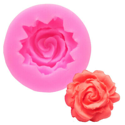 3D Rose Flower DIY Birthday Wedding Cake Decor Tool Silicone Mold Candle Moulds