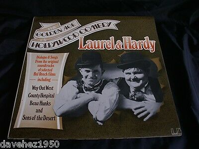 LAUREL & HARDY. The Golden Age Of Hollywood Comedy.1975 LP. G'fold Sleeve. EX/EX