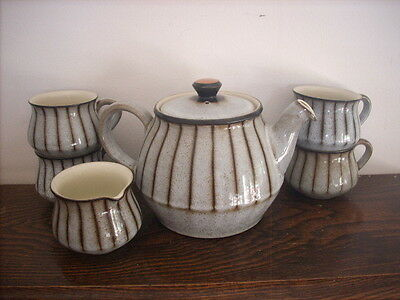 Bourne Denby Teapot Jug And 4 Cups