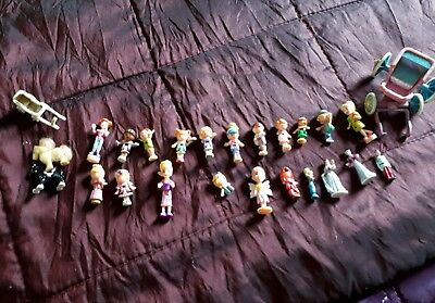 Vintage Polly Pocket various Assorted job lot FIGURES Toy dolls Disney horses