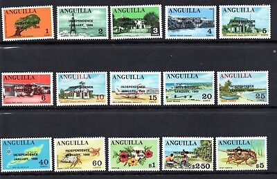Anguilla 1969 Independence Overprint Set Mounted Mint