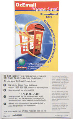 Australia Phone Card - OzEmail Promotional