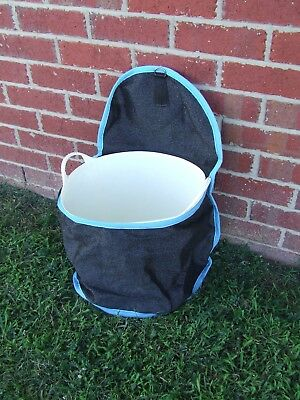 Ecotak Shade mesh Portable Bucket Holder - Black/aqua Ecotak