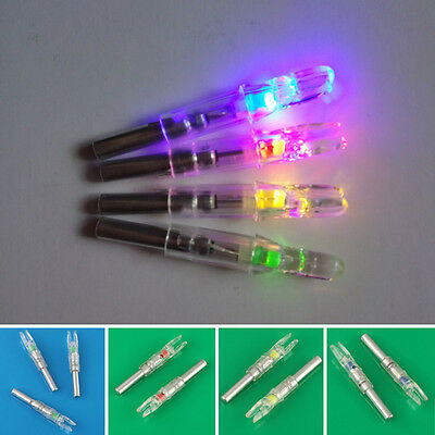 3PCS Hunting Lighted Nock LED Lighted Shooting Luminous Tail Arrow Nocks Green