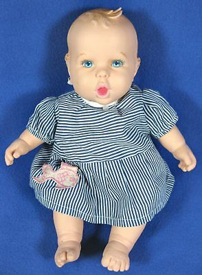 "Toy Biz 1998 Gerber 12"" Baby Doll Cries Laughs Sneezes Coughs Drinks Bottle"
