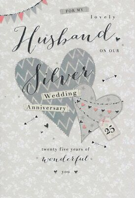 For My Husband on our Silver 25th Wedding Anniversary Card