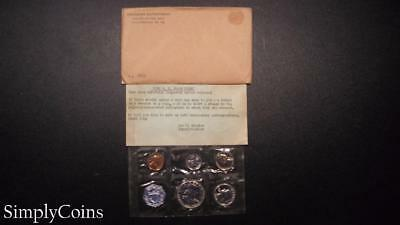 1958 Proof Set ~ Original Envelope With COA ~ US Mint Silver Coin Lot SKU-606