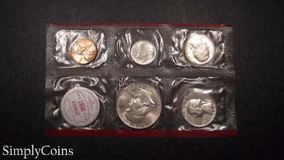 1960-D Denver Mint Set ~ BU Uncirculated ~ US Silver Coin Lot SKU-592
