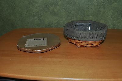 2002 Longaberger Sage Booking Basket with Lid, liner and protector