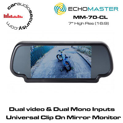 "Echomaster MM-70-CL 7"" Clip On Mirror Monitor"
